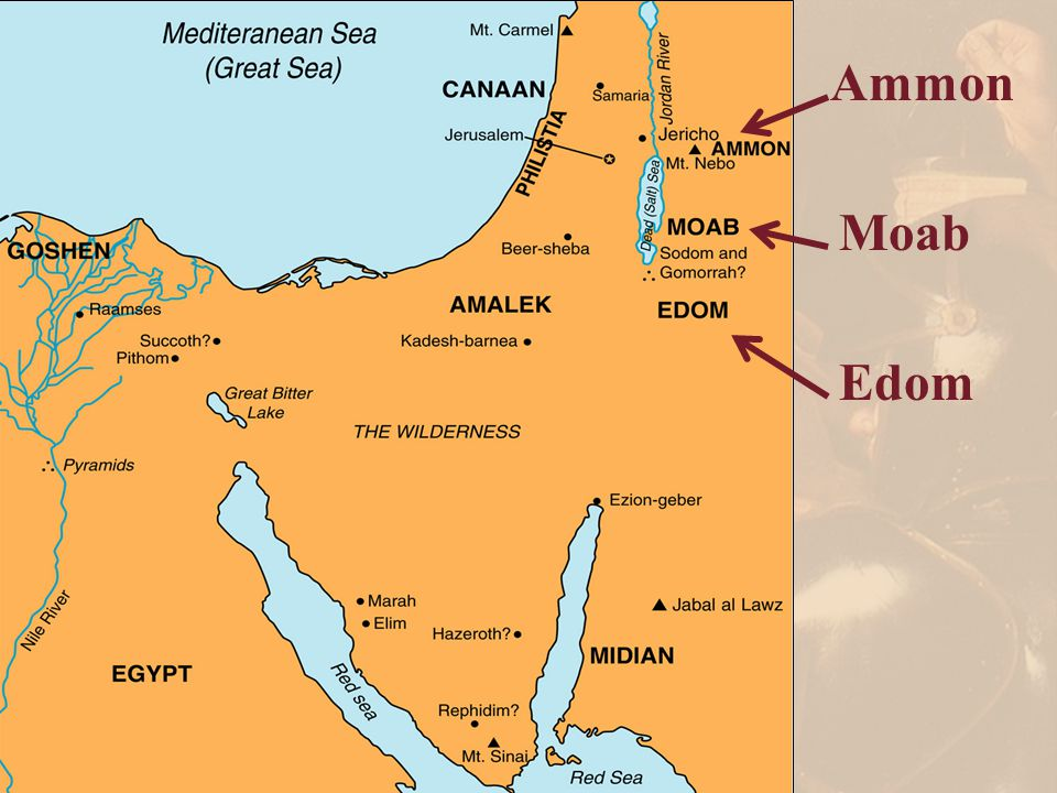 Ammon Moab Edom