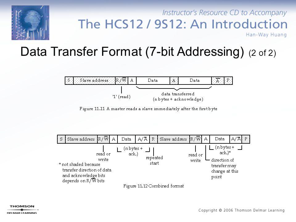 Data Transfer Format (7-bit Addressing) (2 of 2)