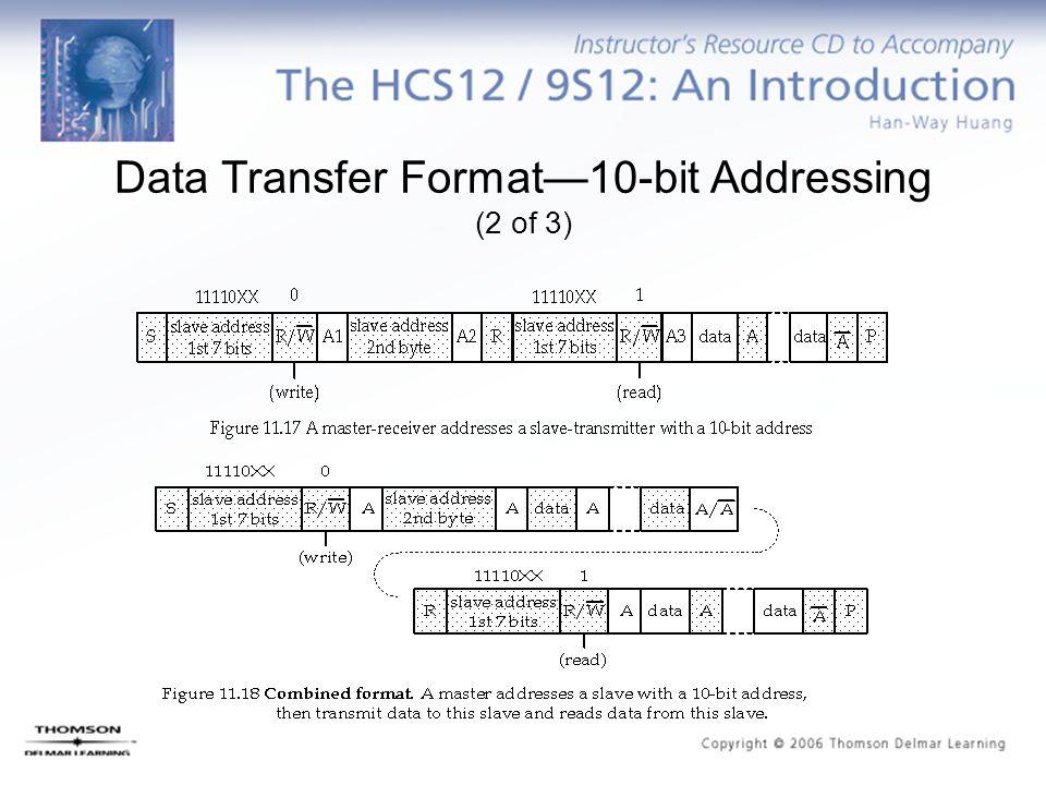 Data Transfer Format—10-bit Addressing (2 of 3)