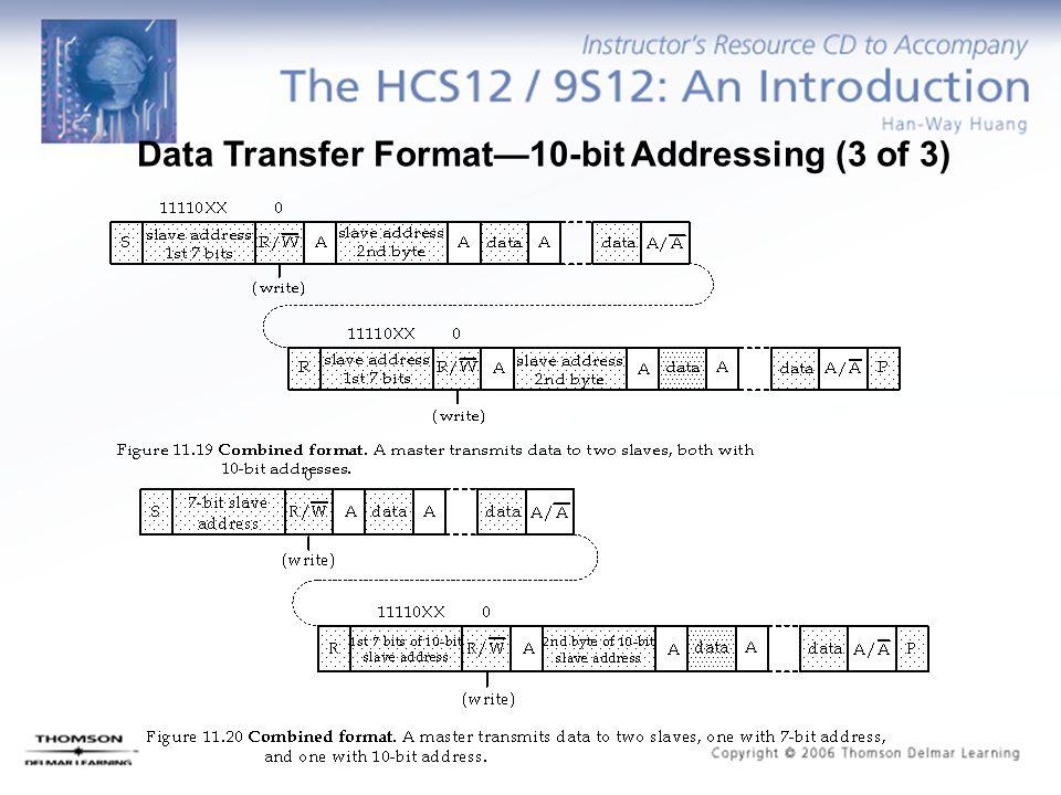 Data Transfer Format—10-bit Addressing (3 of 3)