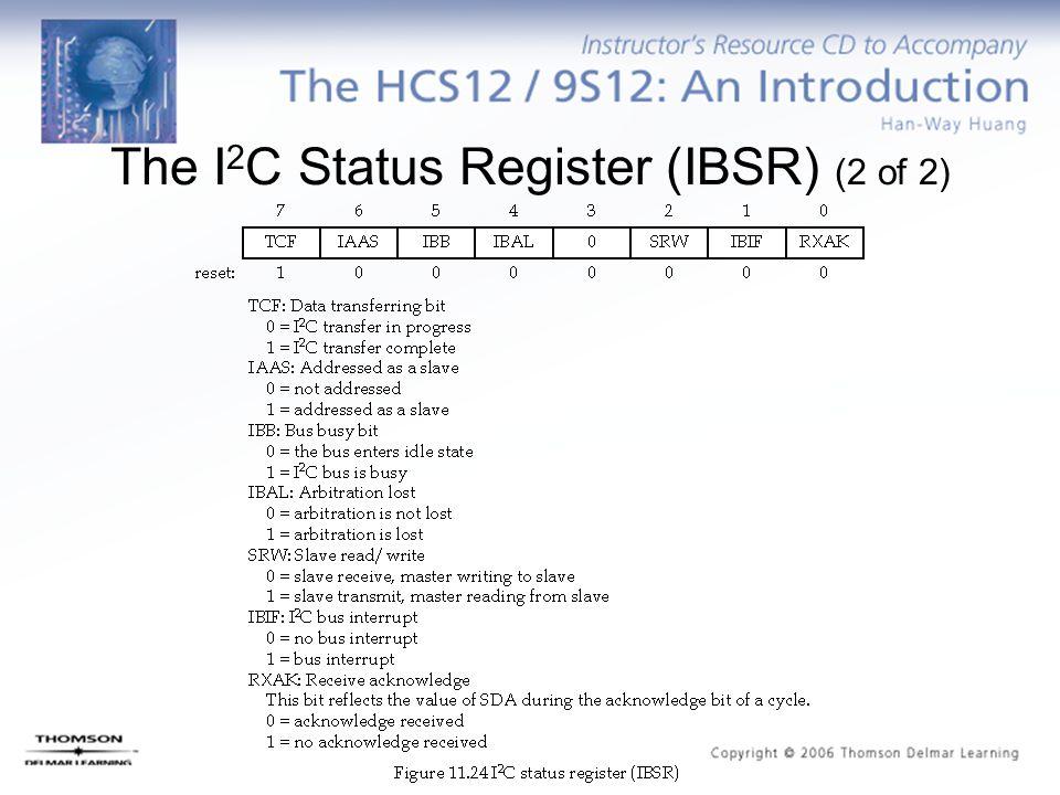 The I 2 C Status Register (IBSR) (2 of 2)