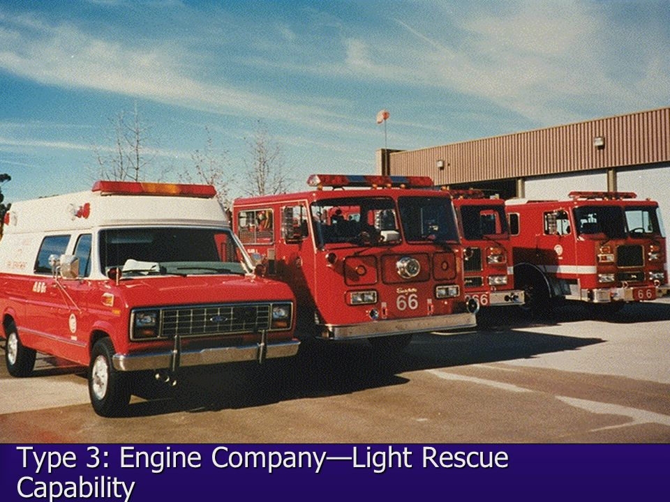 Type 3: Engine Company—Light Rescue Capability