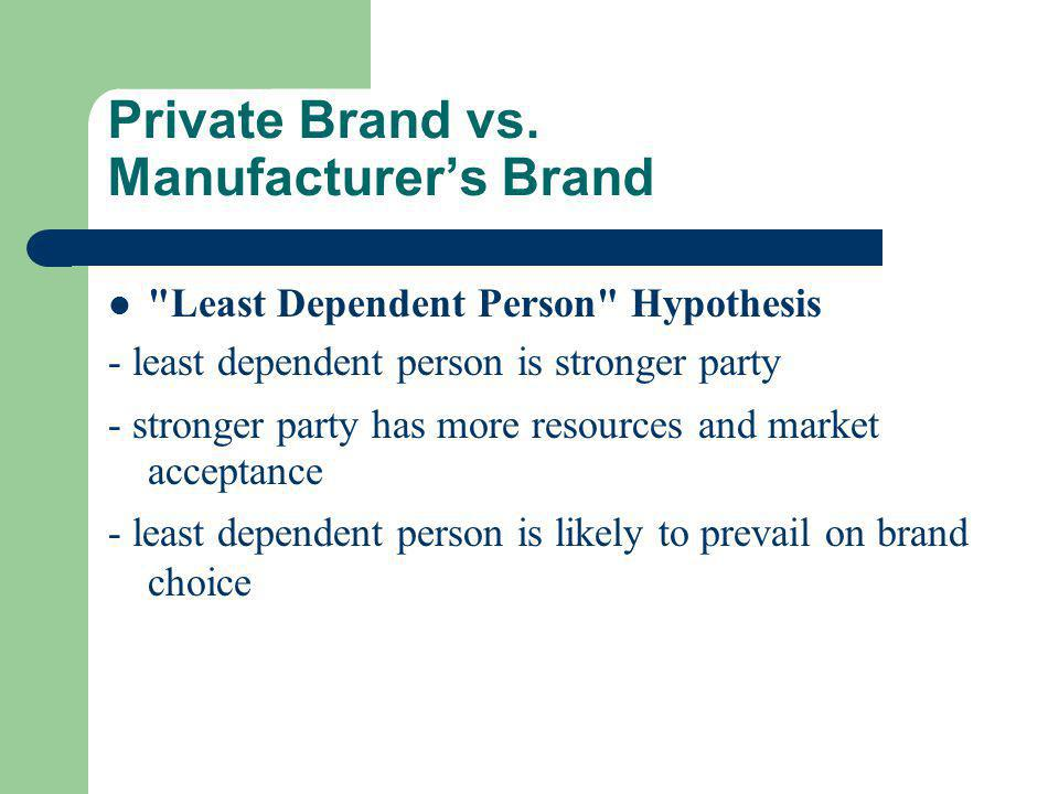 Private Brand vs.