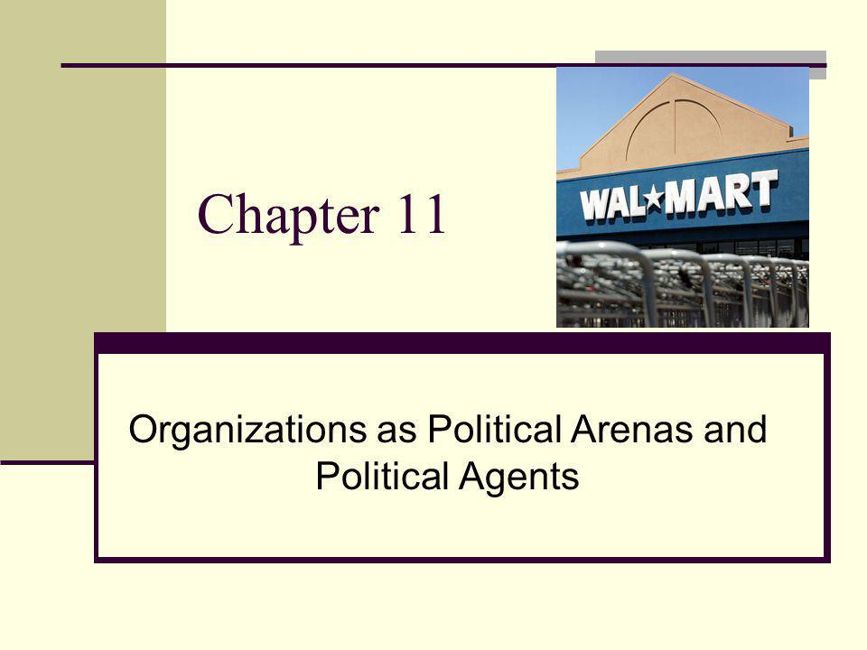 Chapter 11 Organizations as Political Arenas and Political Agents