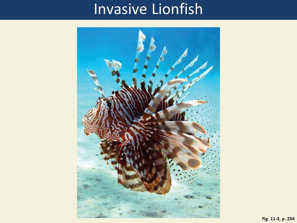 Invasive Lionfish Fig. 11-3, p. 254