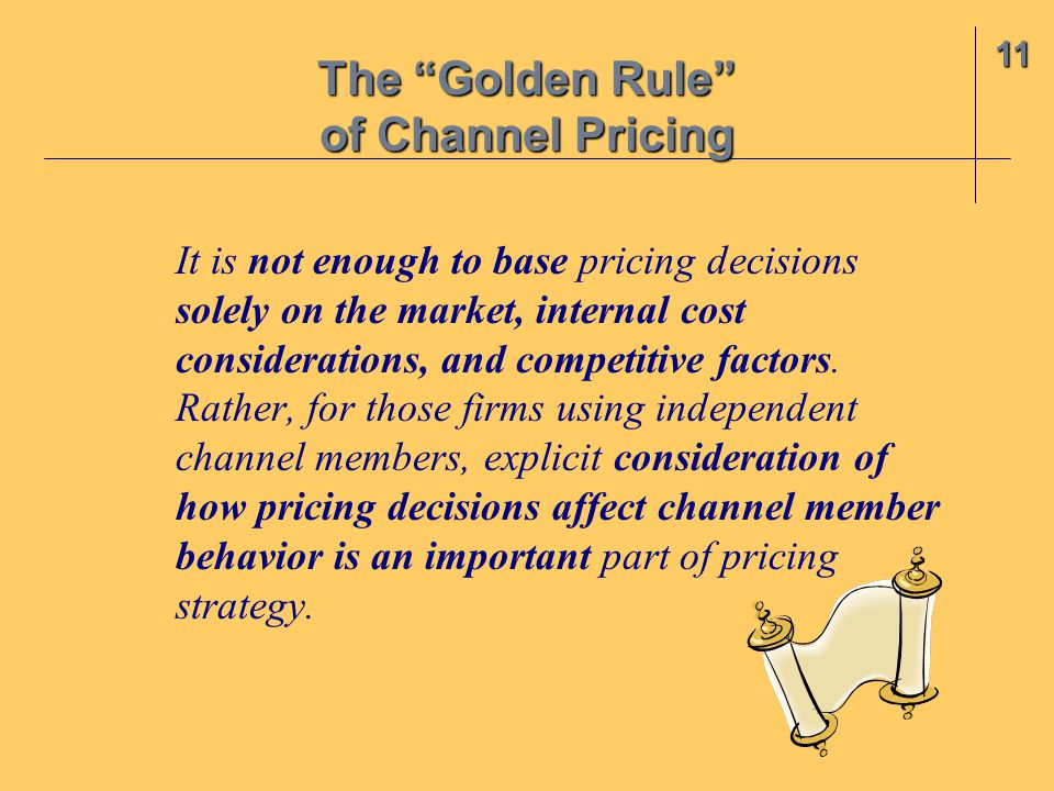 It is not enough to base pricing decisions solely on the market, internal cost considerations, and competitive factors.