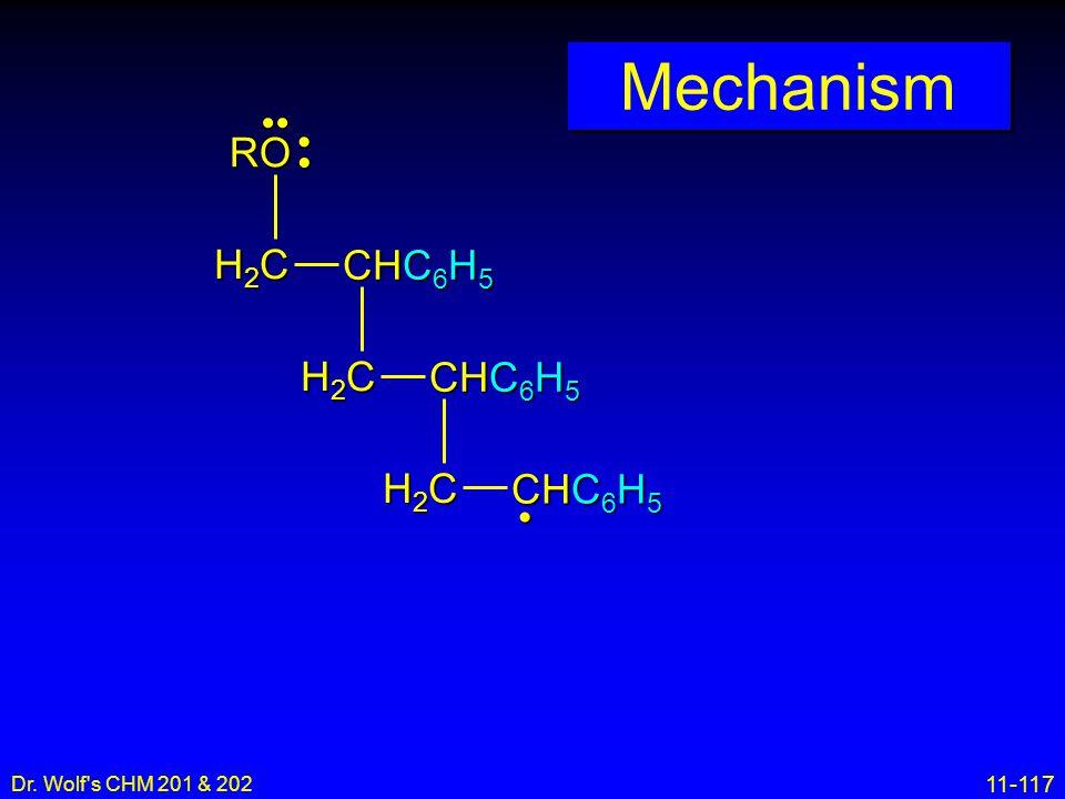 11-117 Dr. Wolf's CHM 201 & 202 Mechanism H2CH2CH2CH2C CHC 6 H 5 H2CH2CH2CH2C H2CH2CH2CH2C RO