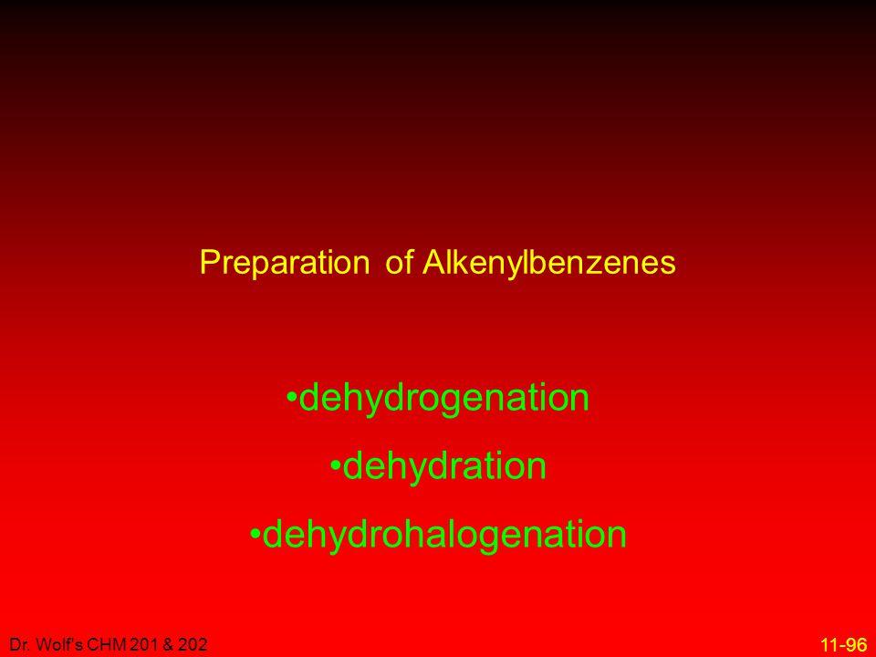 11-96 Dr. Wolf's CHM 201 & 202 Preparation of Alkenylbenzenes dehydrogenation dehydration dehydrohalogenation