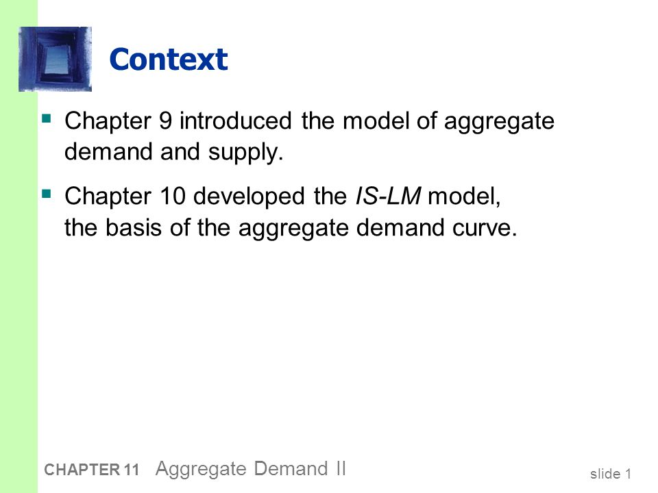 slide 22 CHAPTER 11 Aggregate Demand II What is the Fed's policy instrument.