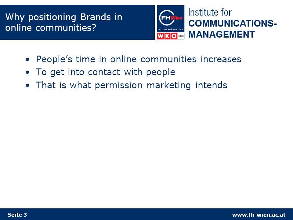 www.fh-wien.ac.atSeite 14 Constructing a communication network for online social communities