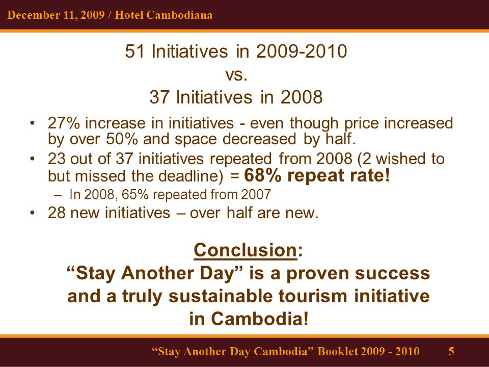 51 Initiatives in 2009-2010 vs.