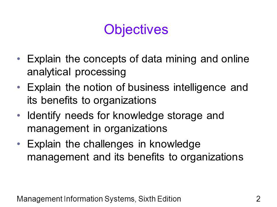 Management Information Systems, Sixth Edition13
