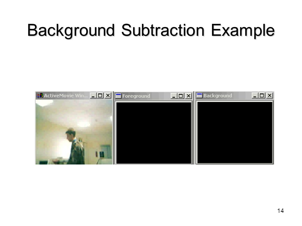 14 Background Subtraction Example