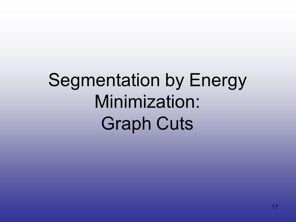 17 Segmentation by Energy Minimization: Graph Cuts