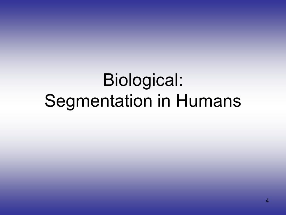 5 Biological: For humans at least, Gestalt psychology identifies several properties that result In grouping/segmentation: