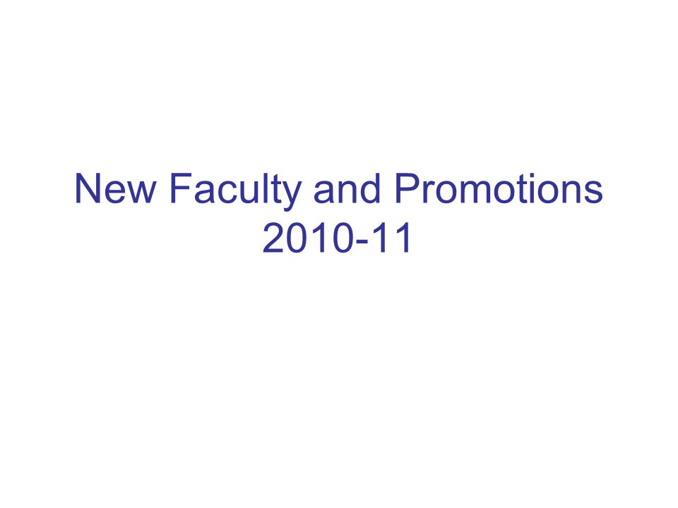 Faculty Development and Diversity Program 2010-11