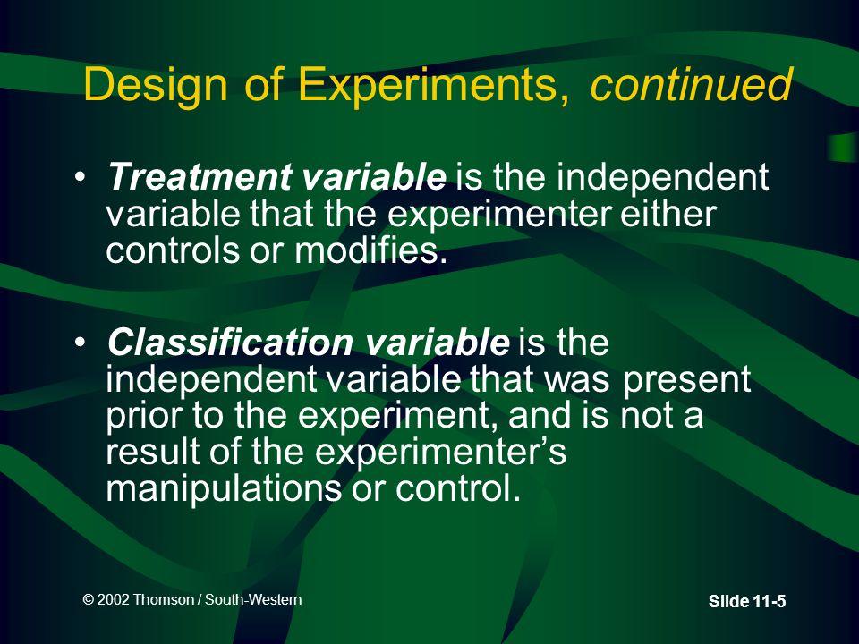 © 2002 Thomson / South-Western Slide 11-56 Demonstration Problem 11.4: Conclusion 0.01 df = 11 24.725 Non Rejection region