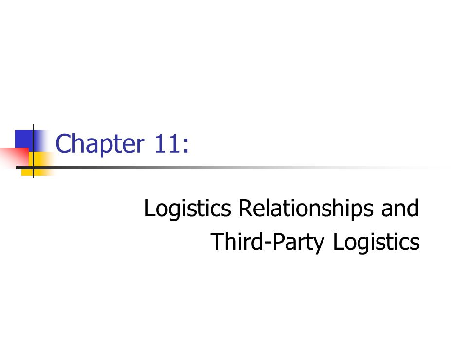 Chapter 11Management of Business Logistics, 7 th Ed.2 Logistics Relationships and Third- Party Logistics: Introduction With more firms interested in working more closely with their supply chain partners, high priorities are: Developing and implementing successful supply chain relationships; The need for collaboration to achieve supply chain objectives; and, Value created by third-party logistics.