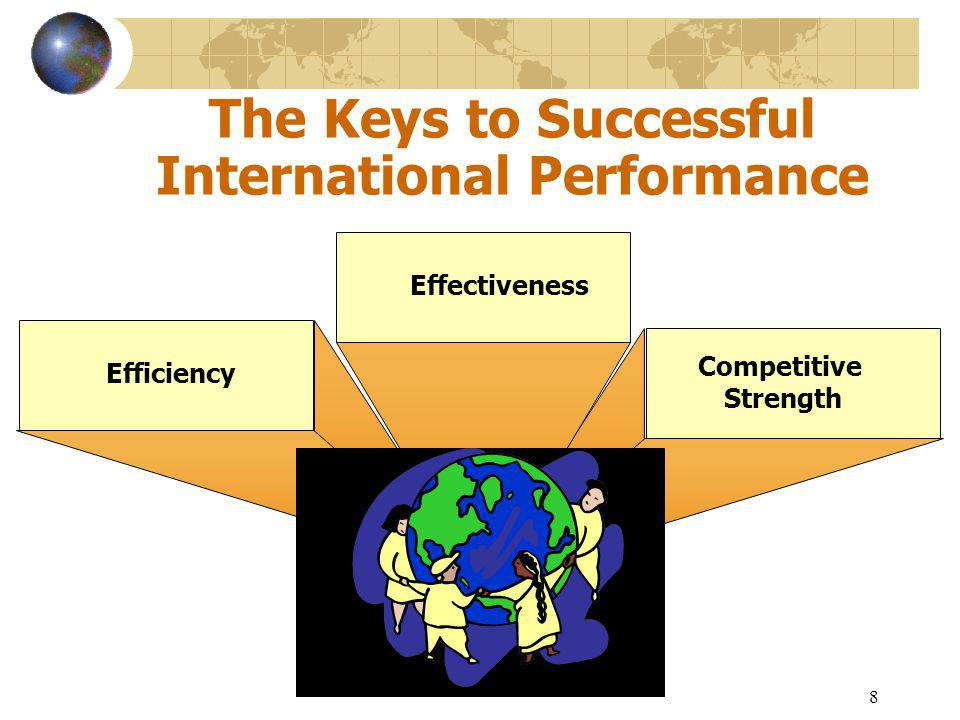 8 The Keys to Successful International Performance Efficiency Competitive Strength Effectiveness