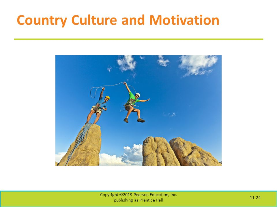 Country Culture and Motivation Copyright ©2013 Pearson Education, Inc.