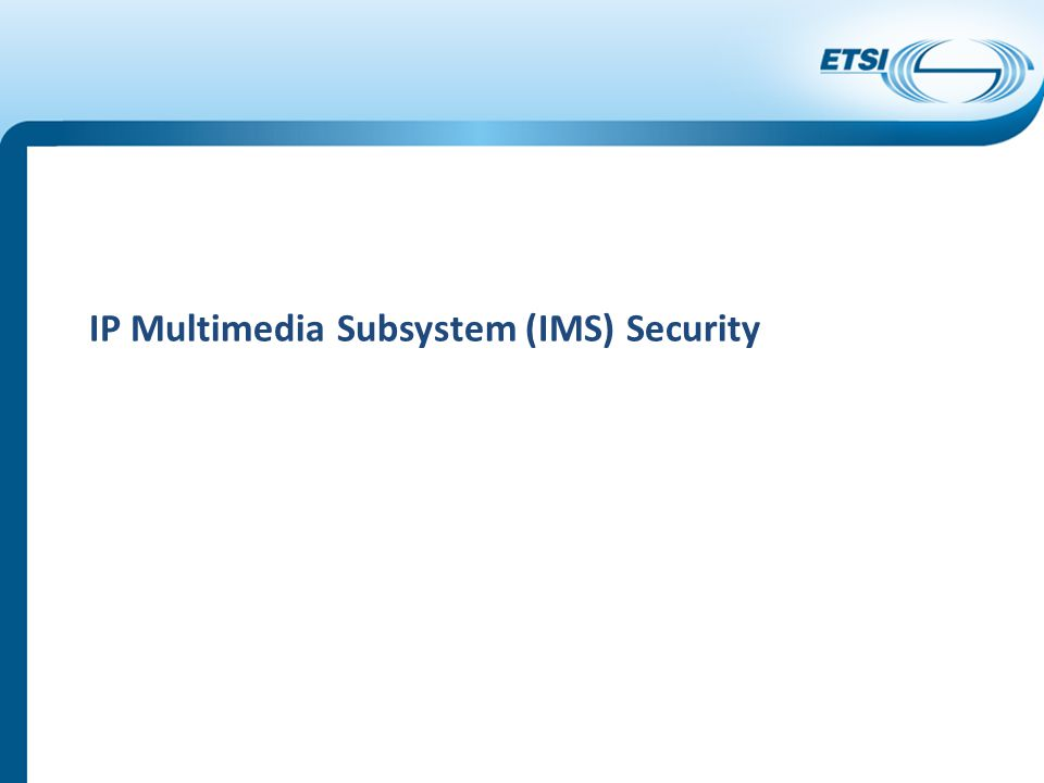 IP Multimedia Subsystem (IMS) Security
