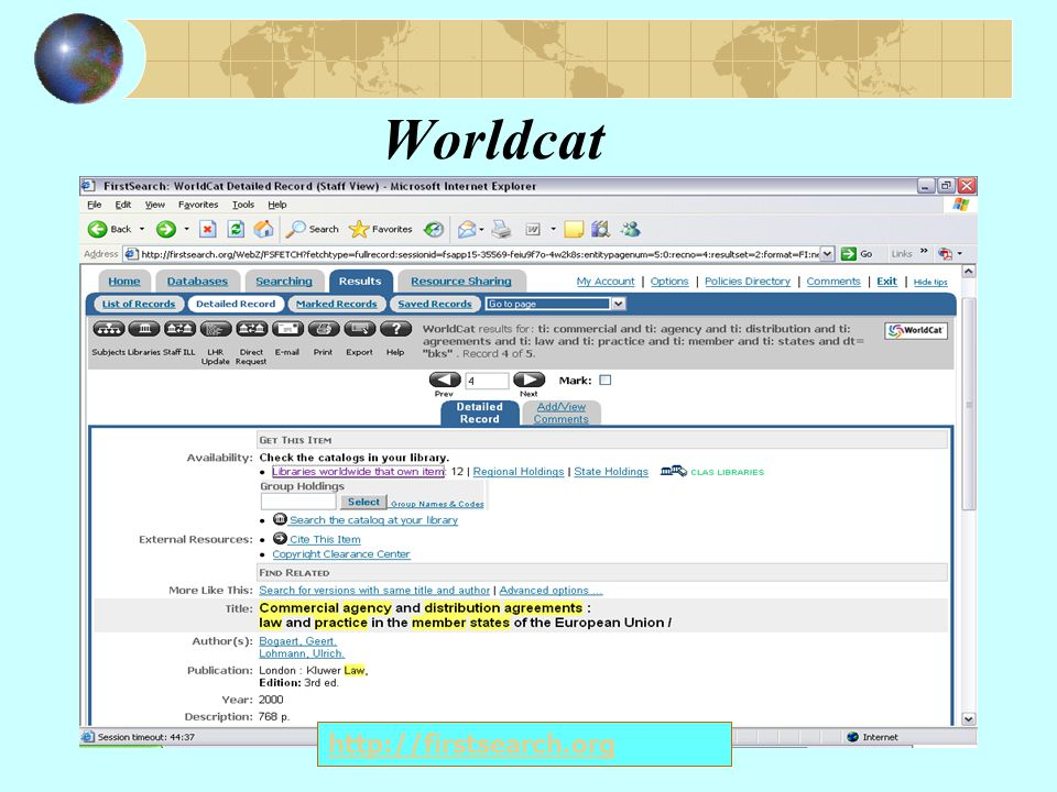 Worldcat http://firstsearch.org