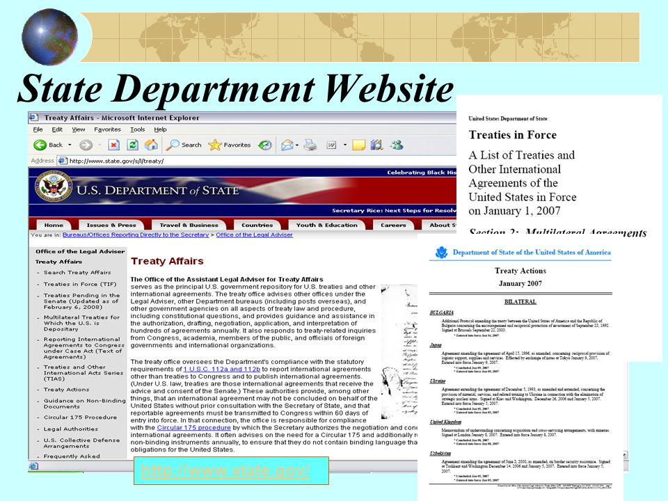Bureau of Consular Affairs http://travel.state.gov/