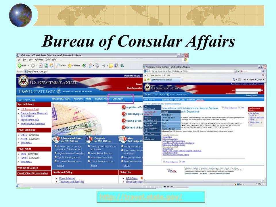Judicial Assistance http://travel.state.gov/law/info/judicial/judicial_702.html