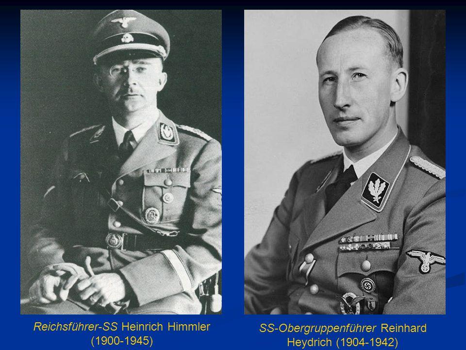 Reichsführer-SS Heinrich Himmler (1900-1945) SS-Obergruppenführer Reinhard Heydrich (1904-1942)