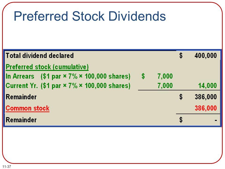 Preferred Stock Dividends 11-37