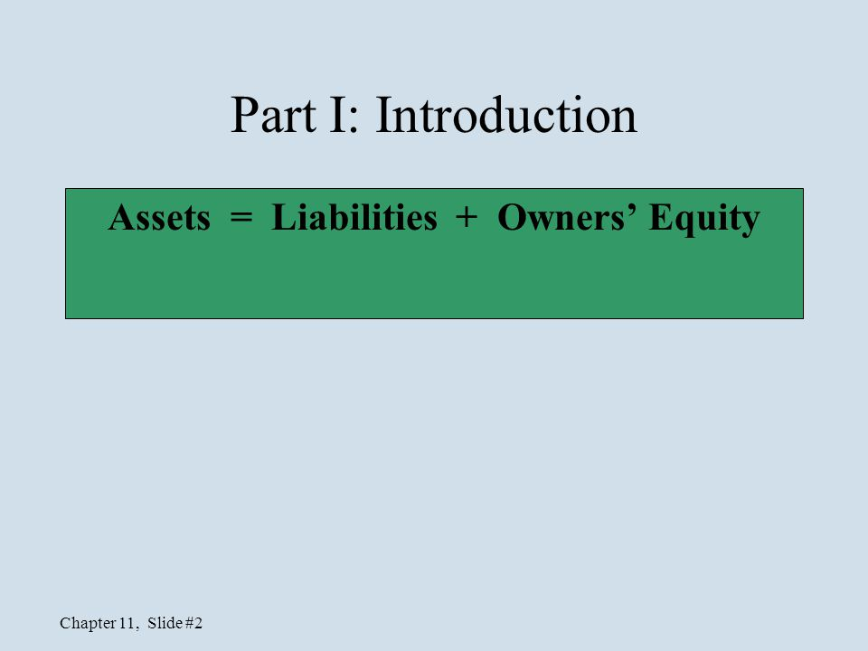 Chapter 11, Slide #13 Stock Issued for Non-cash Assets Journal entry: Land 15,000 Common Stock 10,000 Additional Paid-In Capital—Common 5,000 To record the issuance of 1,000 shares of $10 common stock for land.