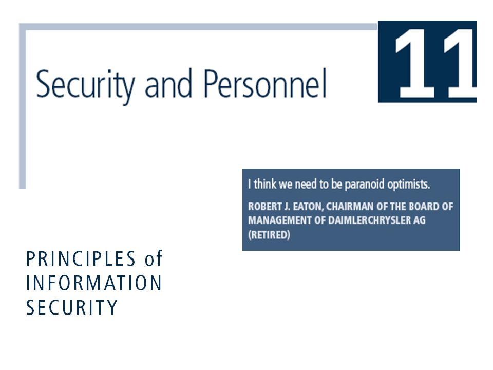 Principles of Information Security, 3rd Edition12 Credentials of Information Security Professionals  Many organizations seek recognizable certifications  Most existing certifications are relatively new and not fully understood by hiring organizations  Certifications include: CISSP and SSCP, CISA and CISM, GIAC, SCP, Security+, CCE, RSA security, CheckPoint, Cisco