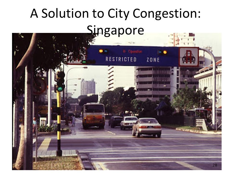 A Solution to City Congestion: Singapore 28