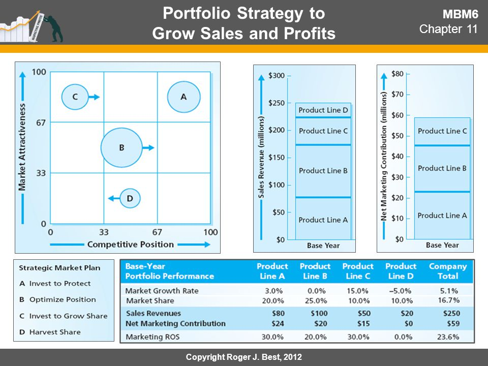 Portfolio Strategy to Grow Sales and Profits MBM6 Chapter 11 Copyright Roger J. Best, 2012