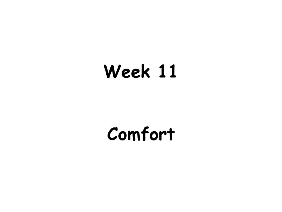 Learning Objectives 1.Describe and list factors that affect comfort.