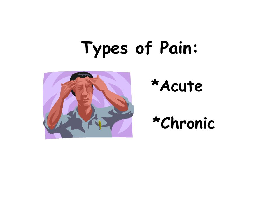 Types of Pain: *Acute *Chronic