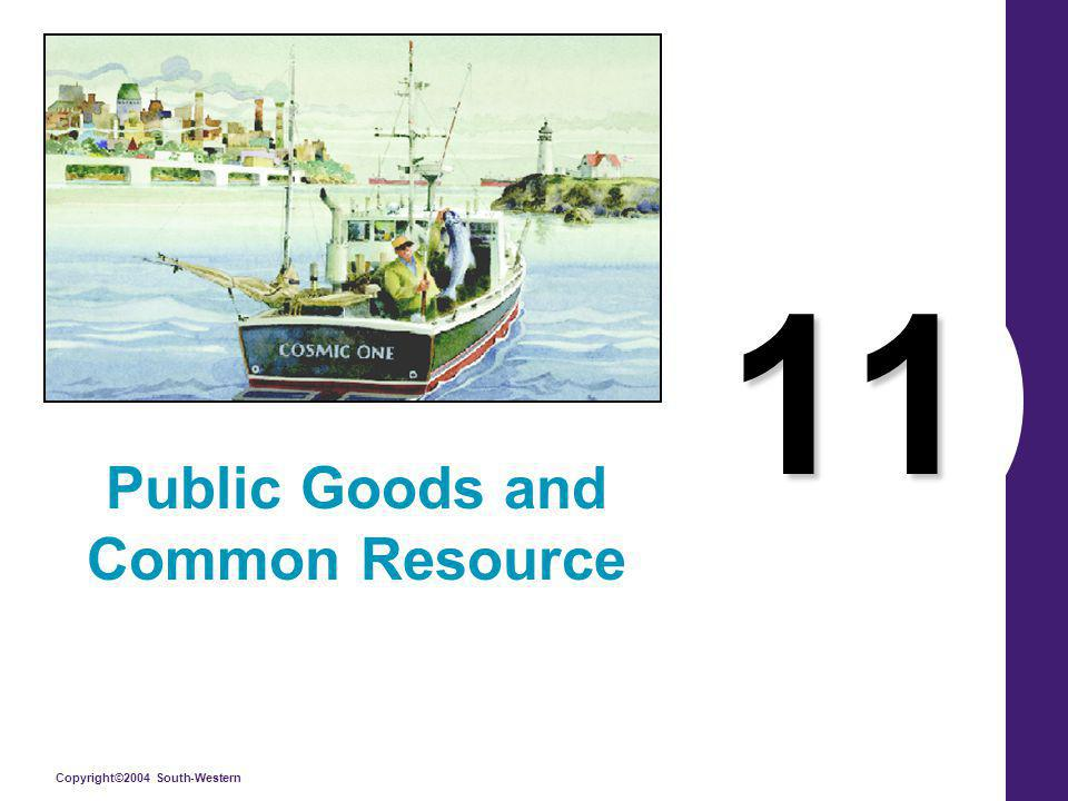 Copyright©2004 South-Western 11 Public Goods and Common Resource