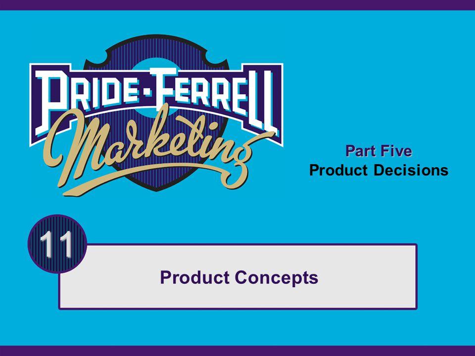 Part Five Product Decisions 11 Product Concepts