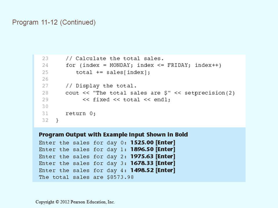 Program 11-12 (Continued)