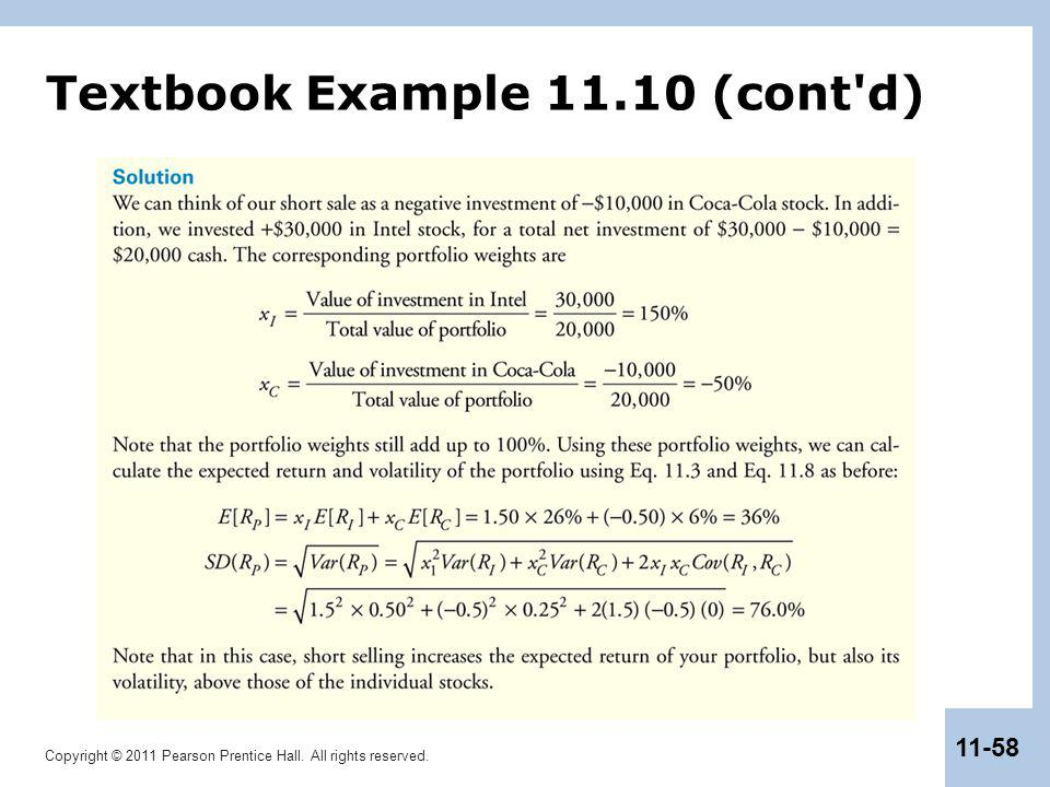 Copyright © 2011 Pearson Prentice Hall. All rights reserved. 11-58 Textbook Example 11.10 (cont'd)