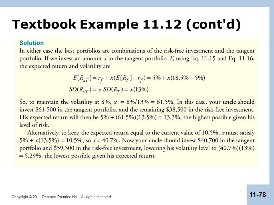 Copyright © 2011 Pearson Prentice Hall. All rights reserved. 11-78 Textbook Example 11.12 (cont'd)