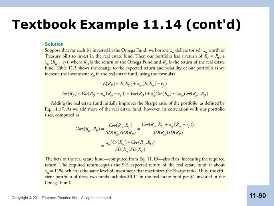 Copyright © 2011 Pearson Prentice Hall. All rights reserved. 11-90 Textbook Example 11.14 (cont'd)