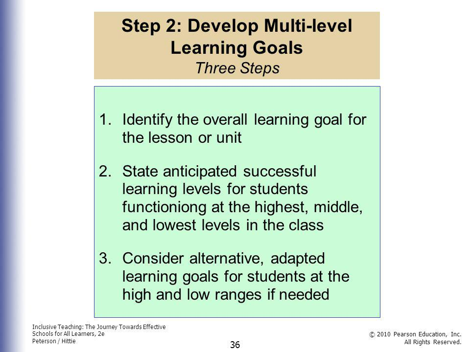 Inclusive Teaching: The Journey Towards Effective Schools for All Learners, 2e Peterson / Hittie © 2010 Pearson Education, Inc.