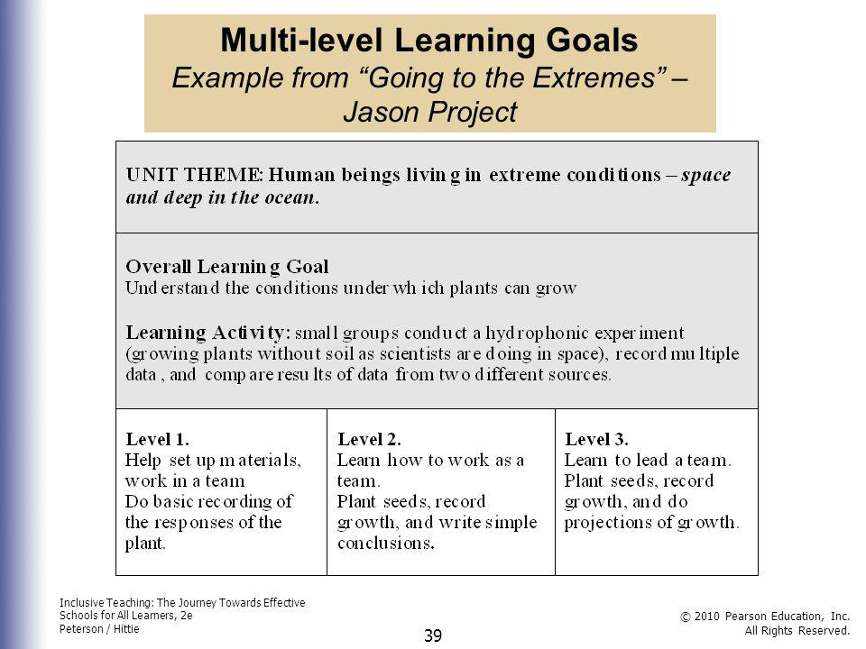 Inclusive Teaching: The Journey Towards Effective Schools for All Learners, 2e Peterson / Hittie © 2010 Pearson Education, Inc. All Rights Reserved. 3