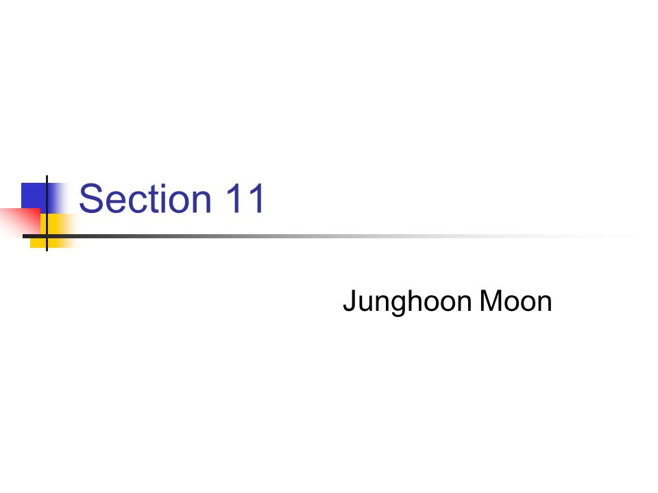 Section 11 Junghoon Moon