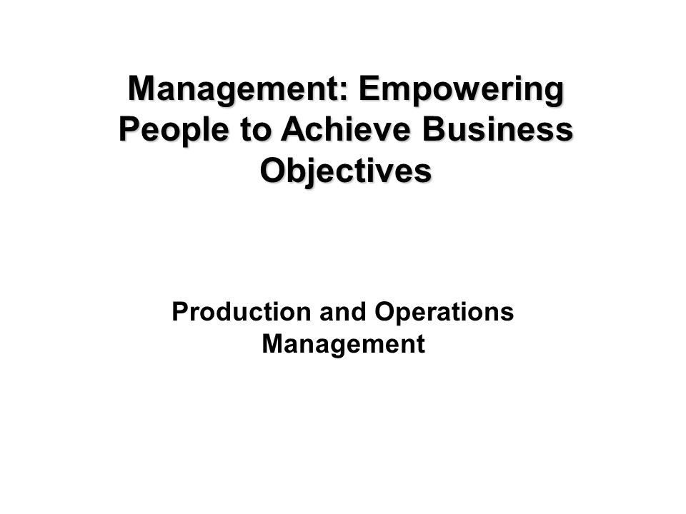Copyright © 2005 by South-Western, a division of Thomson Learning, Inc. All rights reserved. 11-1 Production and Operations Management Management: Emp