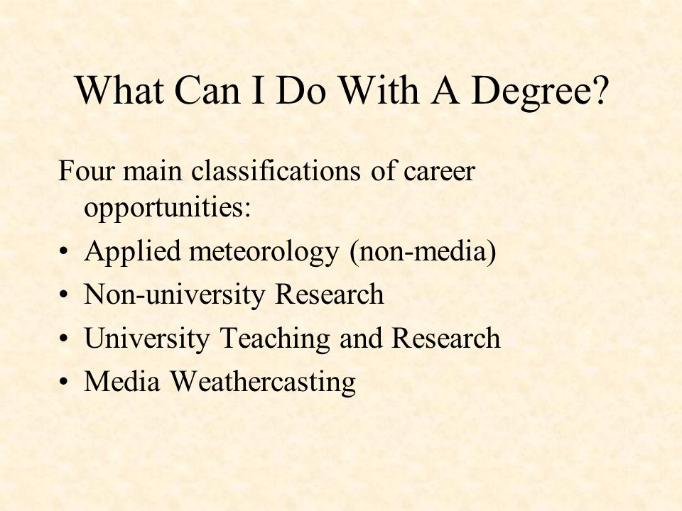 What Can I Do With A Degree.