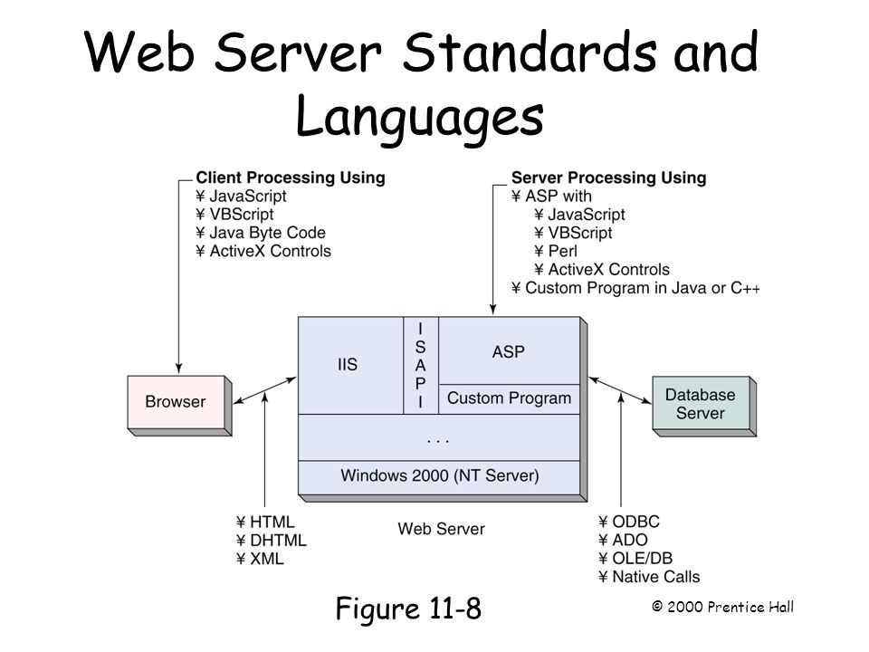 Web Server Standards and Languages Page 281 Figure 11-8 © 2000 Prentice Hall