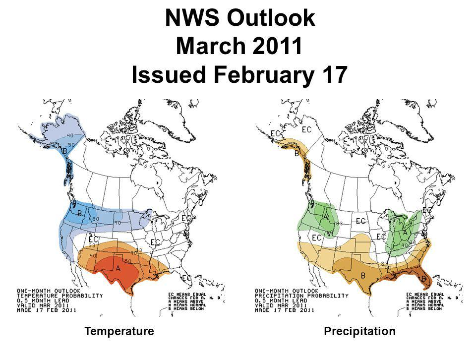 NWS Outlook March 2011 Issued February 17 TemperaturePrecipitation