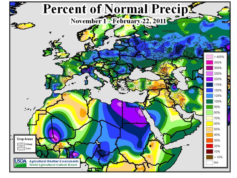 IRI Eurasian Outlook March – May (Spring) 2011 Issued February 17 TemperaturePrecipitation
